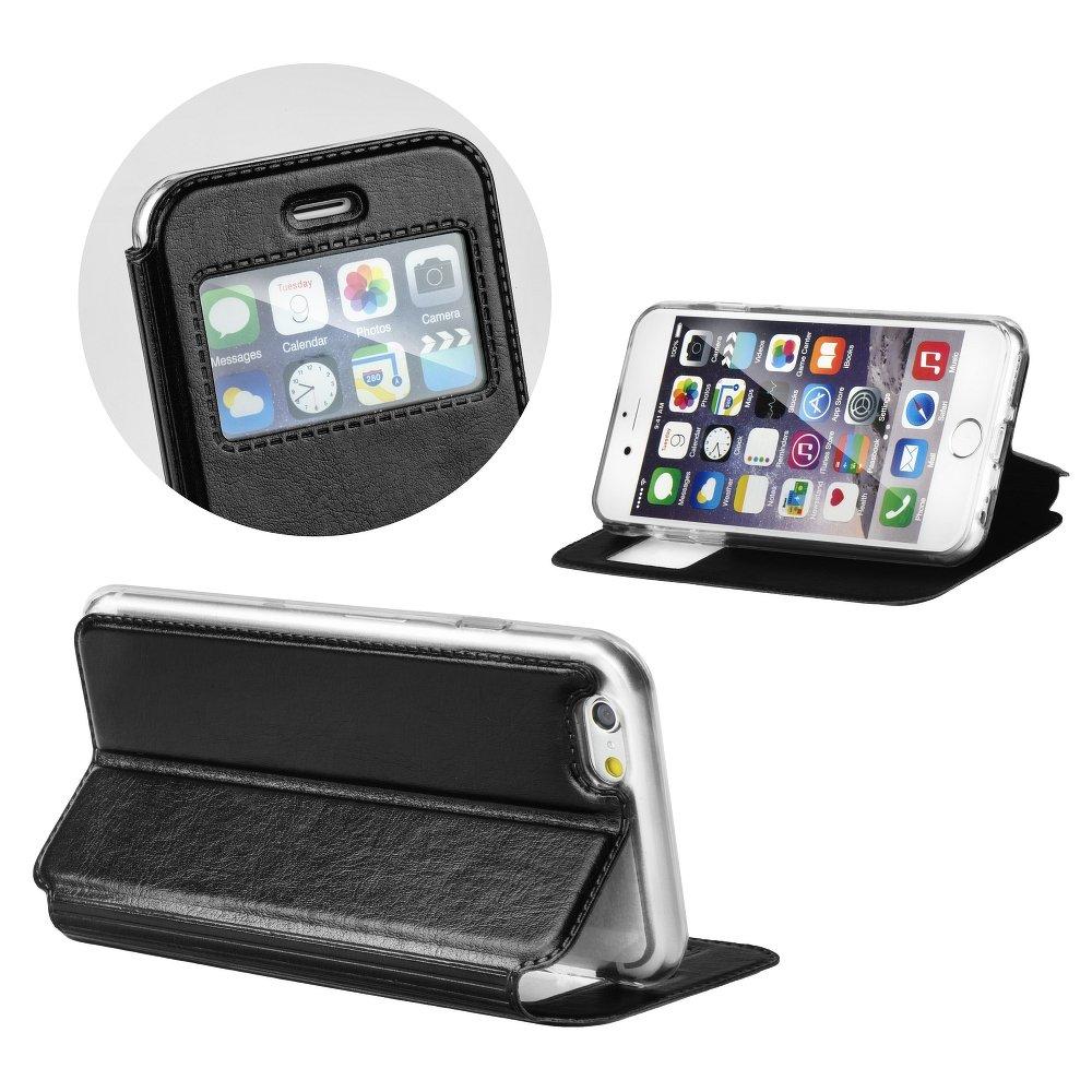 Puzdro Magnet View čierne – iPhone 6 6S  0c0659417ff