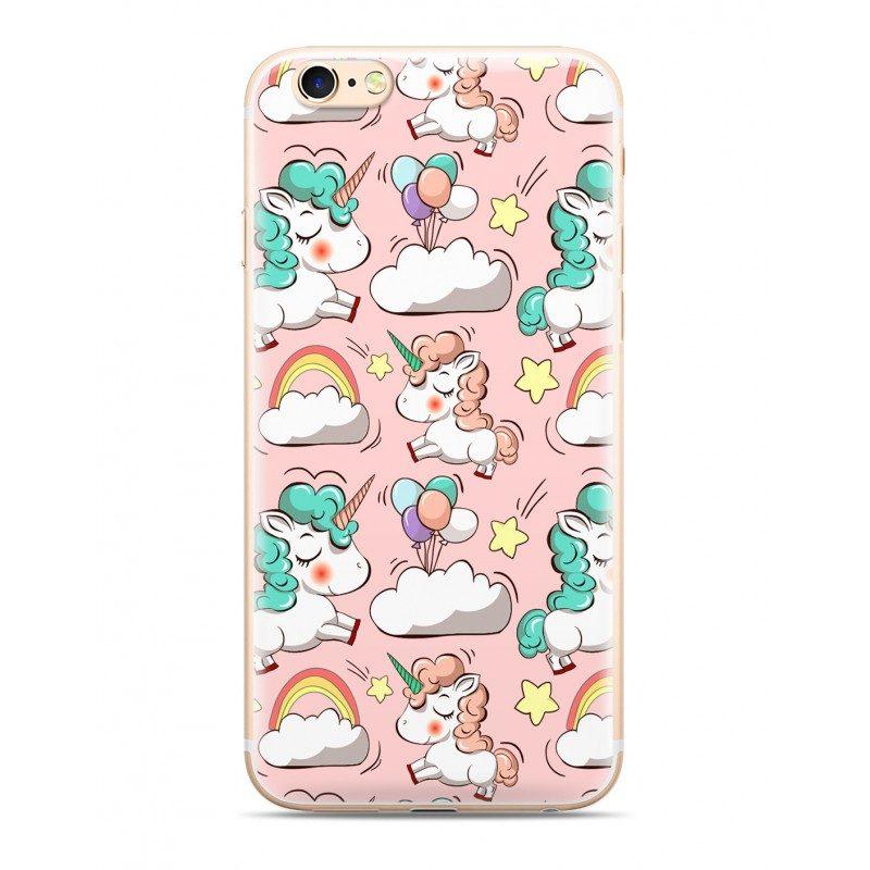 Zadný kryt s potlačou Unicorn 2 ružový – iPhone 5 5S SE  390f05b5d36
