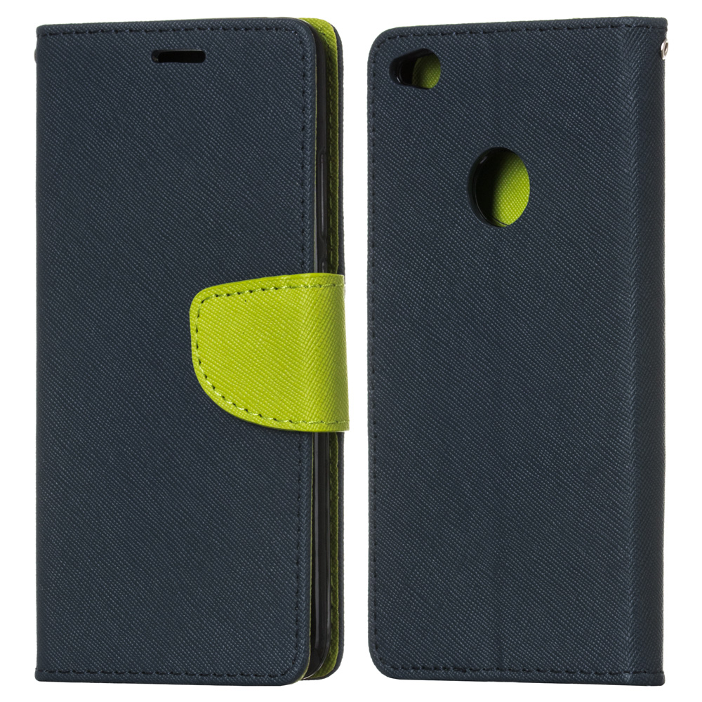 Puzdro Fancy Book modro-zelené – Huawei P8 Lite 2017   P9 Lite 2017 ... 9ce77aec6be