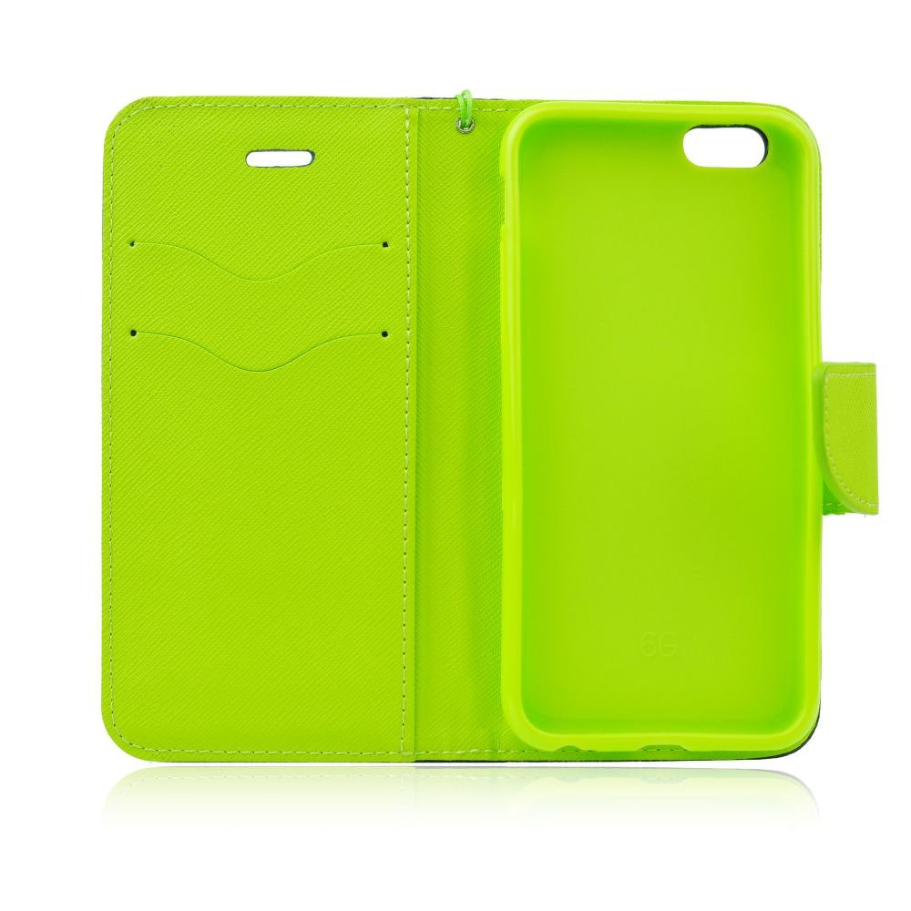 Peňaženkové puzdro Fancy Book modro-limetkové – iPhone 7   8  f1ab9460776