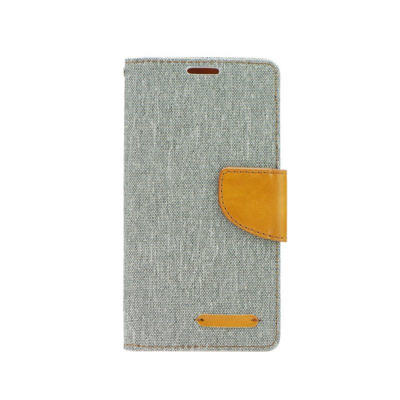 Peňaženkové puzdro Canvas Book sivé – iPhone 7   8  d2a5aafe830